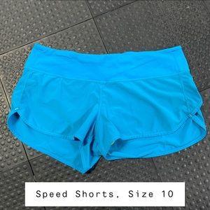 Lululemon Speed Shorts - Size 10